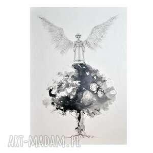 Anioł arbornauta, obraz ręcznie malowany aleksandrab obraz