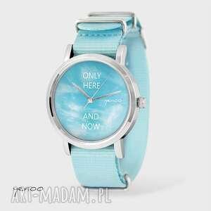 zegarek, bransoletka - tylko tu i teraz błękitny, nato, bransoletka, nato