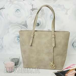 Prezent MANZANA klasyczna torba miejski styl TAUPE, torba, torebka, kuferek, damska