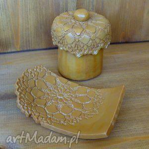 ceramika komplet lazienkowy na zamówienie, łazienka, mydelniczka, pojemnik