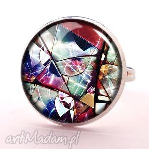 hand made pierścionki witraż - pierścionek regulowany