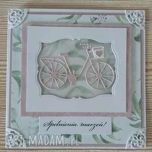 prezent na święta, kartka kwiatowa z rowerem, rower, mama, urodziny, kwiaty