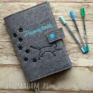 Prezent Filcowa okładka na zeszyt - Pamiętnik, okładka, kot, pamiętnik, notatnik