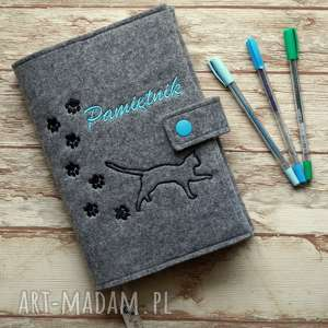 akcesoria filcowa okładka na zeszyt - pamiętnik, okładka, kot, notatnik
