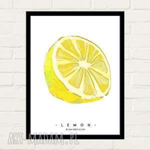 hand-made plakaty lemon plakat 30x40