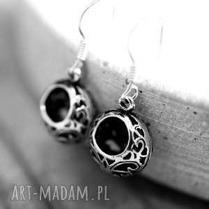 handmade kolczyki 925 srebrne mini kolczyki ornament