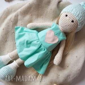 Lalka, eko-lalka, przytulanka, maskotka, szydełkowa