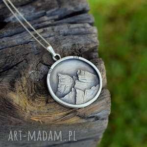 Prezent Z miłości do gór, góry, srebro, naszyjnik, prezent, miłośnik-gór, unikatowy