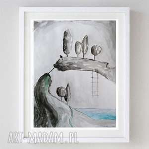 abstracja -ilustracja formatu a4, abstrakcja, papier, tusz