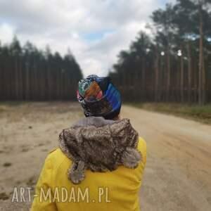 czapka damsko-dziecieca na malutka głowę 55-56cm podszewce, polecam box x1