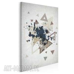 Obraz na płótnie - trójkąty abstrakcja w pionie 50x70 cm 64803