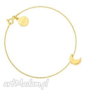 złota bransoletka z księżycem - łańcuszek blogerska