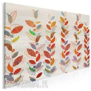obraz na płótnie - liście natura kolory 120x80 cm 58401, liście, drzewa