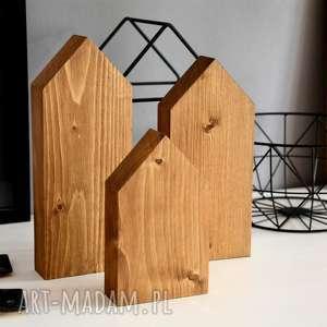 unikalne prezenty, 3 domki drewniane, domek, domki, drewna, skandynawskie