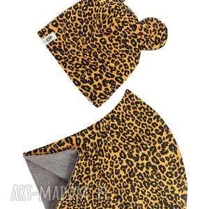 zestaw czapka komin bear ii, czapka, komin, zestaw, komplet, podwójny, zimowy