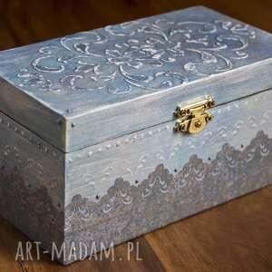 nook design handmade pudełeczko na biżuterie, decoupage, srebro, glamour, drobiazg