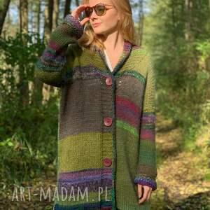 multicolors kardigan autumn forest, sweter, wełniany kolorowy sweter
