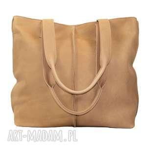 duża torba, worek z nubuku 2605, torebka, torba do pracy, na zakupy