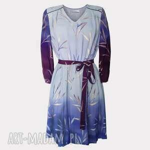 lilka wiskozowa sukienka z jedwabiem, wiskozowa, dziewczęca, niebieska