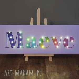 Prezent NAPIS LED Twoje Imię prezent obraz tęczowy lampa, imię, dziecka,