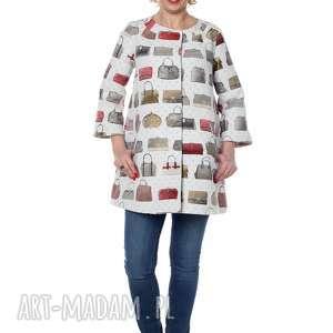 niezwykły, designerski płaszcz z niespotykanej tkaniny - designerski