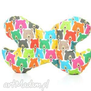 pracownia-milutka poduszka podróżna motylek motyl kolorowe - zagłówek