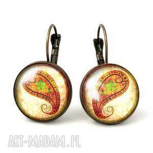 egginegg orientalne nerkowce - duże kolczyki wiszące, romantyczne