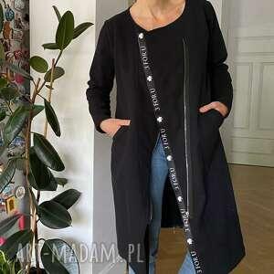 handmade bluzy bluza długa margos-czarna