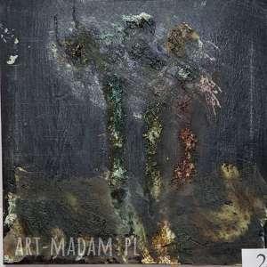 ciemne drzewa, abstrakcja, sztuka, obraz, nowoczesny, salon, drzewa