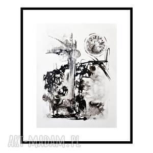 wehikuł czasu /6/, grafika, tusz, abstrakcja, autorska, rysunek, tuszem