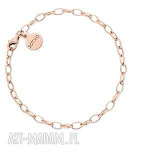 masywna bransoletka z różowego złota - łańcuch