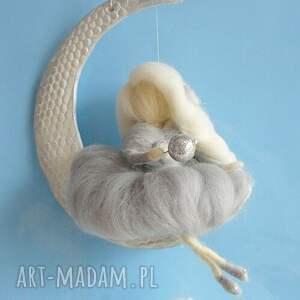 Księżycowa wróżka-MOBIL, mobil, filc, karuzela, dekoracja, lalka, handmad