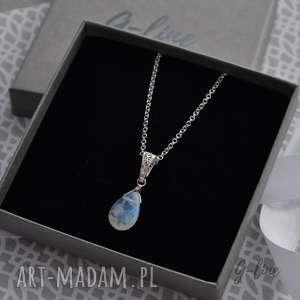Kamień księżycowy. Srebrny wisiorek, srebro, moonstone, kamień, księżycowy
