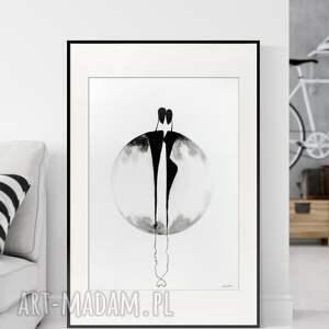 obraz ręcznie malowany 50 x 70 cm, nowoczesna abstrakcja, 2918737