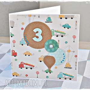 scrapbooking kartki kartka na urodziny dla chłopca - personalizacja