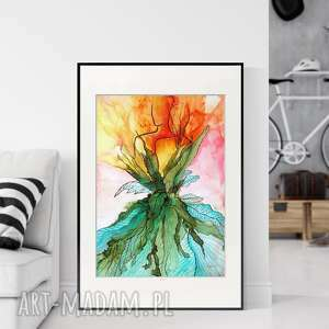 Obraz ręcznie malowany 50x70 cm, abstrakcja kobieta, 2509556 art