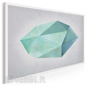 obraz na płótnie - kształt turkus minimalizm 120x80 cm 48401