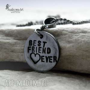 best friend, naszyjnik, przyjaciel, przezent, srebro, pod choinkę prezent