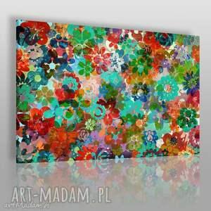 obraz na płótnie - rabatka kwiaty 120x80 cm 56701, kwiaty, kwiat, rabatka, rabata