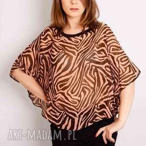 non tess bluzka nietoperz w zeberkę, zebra, print, drukowana, style, safari