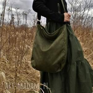 iks vegan zieleń, vegan, listonoszka, torba, torebka, torba na ramię, boho