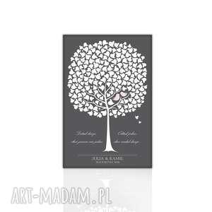 Ślubna księga gości weselnych, obraz na płótnie księgi twoja