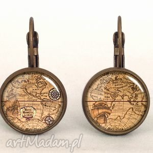 busola - małe kolczyki wiszące egginegg, marynarskie kompas