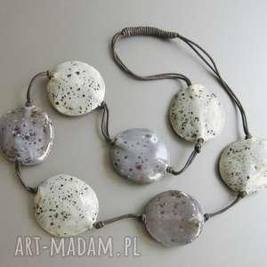 naszyjnik uniwersalna szarość - naszyjnik, biżuteria, prezent, uniwersalny