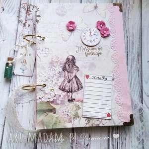 ręcznie robione scrapbooking notesy notes/sekretnik/alicja w krainie