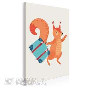 obraz na płótnie - dziecięcy zwierzę wiewiórka 50x70 cm (80203)