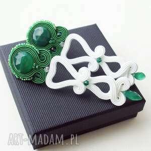 Zielony onyks, swarovski, kryształ, pannamłoda, srebro