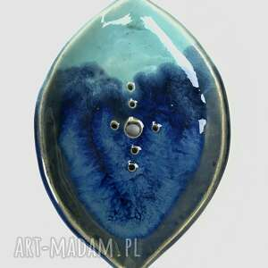 ceramika ceramiczna mydelniczka ręcznie robiona burza, akcesoria łazienkowe