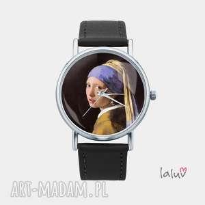 zegarek z grafiką dziewczyna perłą, vermeer, obraz, reprodukcja, sztuka
