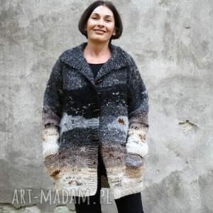 sweter płatki śniegu, wełna, sweter, dzianina, unikat, rękodzieło, prezent
